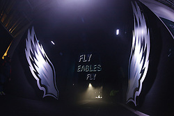 """The tunnel from the Eagles Locker room to the field with """"Fly Eagles Fly"""" and Eagles wings seen before the NFL Game between the Tampa Bay Buccaneers and the Philadelphia Eagles at Lincoln Financial Field in Philadelphia, PA on Sunday, November 22nd 2015. The Buccaneers won 45-17. (Brian Garfinkel/Philadelphia Eagles)"""