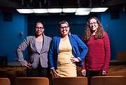 Newly-elected Madison Metropolitan School Board members Ali Muldrow, Ananda Mirilli, and Cristiana Carusi pose for a portrait at the Doyle Administration Building in Madison, WI on Monday, April 22, 2019.