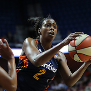 UNCASVILLE, CONNECTICUT- JUNE 5:  Camille Little #2 of the Connecticut Sun in action during the Indiana Fever Vs Connecticut Sun, WNBA regular season game at Mohegan Sun Arena on June 3, 2016 in Uncasville, Connecticut. (Photo by Tim Clayton/Corbis via Getty Images)