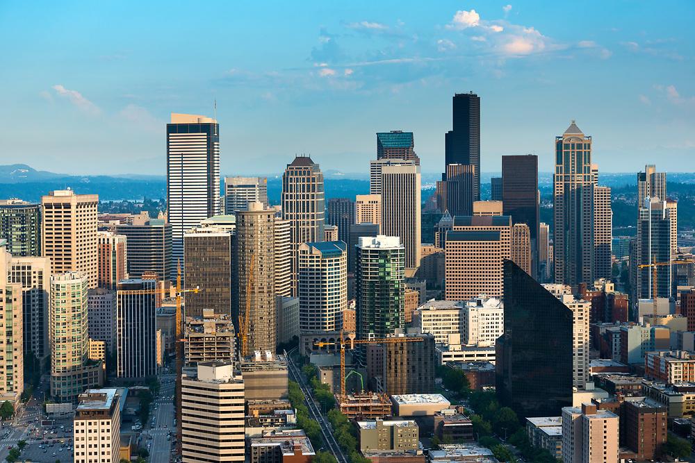 skyline of downtown Seattle, Washington State, USA