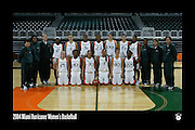 2004 Miami Hurricanes Women's Basketball Team Photo