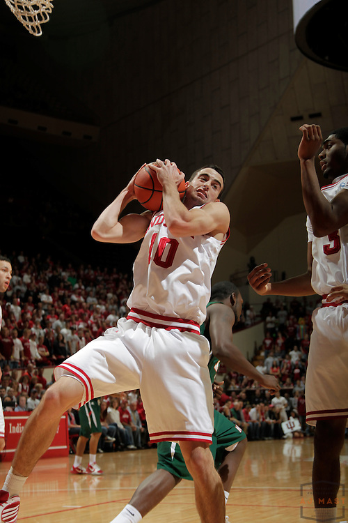 16 November 2010: Indiana guard/forward Will Sheehey (10) as the Indiana Hoosiers played the Mississippi Valley State Delta Devils in a college basketball game in Bloomington, Ind.