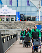 St John's Ambulance volunteers arrive to do their bit - The new Nightingale Hospital at the Excel Centre -  The 'lockdown' continues for the Coronavirus (Covid 19) outbreak in London.