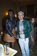 JENNY AGIVI,; MARC QUINN;, Okwui Enwezor and Vinyl Facorty hosted party at Ca'Sagredo, Campo Santa Sofia Venice Biennale, Venice. 5 May 2015