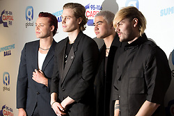 Members of the band 5 Seconds of Summer, Luke Hemmings, Michael Clifford, Calum Hood and Ashton Irwin (left to right) on the red carpet of the the media run during Capital's Summertime Ball. The world's biggest stars perform live for 80,000 Capital listeners at Wembley Stadium at the UK's biggest summer party.