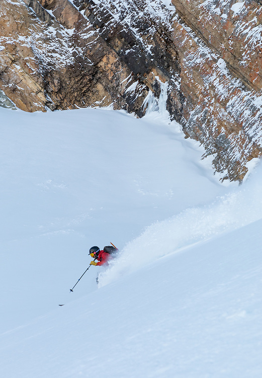 Taylor Sullivan Skiing the North Couloir on Mt Chester