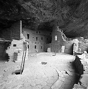 Two Kiva Entrances, Spruce Tree House, Mesa Verde National Park