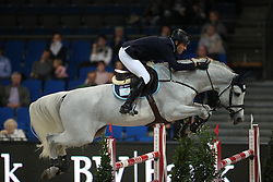 Larocca Jose Maria, (ARG), Cornet Du Lys<br /> Prize of Raumpflege Jumping<br /> Stuttgart - German Masters 2015<br /> © Hippo Foto - Stefan Lafrentz