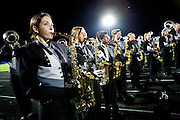 The Oregon Marching Band performs a thank you show in Oregon, Wisconsin on June 28, 2011.