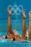 26/08/04 - ATHENS  - GREECE -  OLYMPICS GAMES 2004 - SYNCHRONISED SWIMMING - Team event - Technical Routine <br />Here the teal from RUSSIAN FEDERATION.<br />© Gabriel Piko / Argenpress.com / Piko-Press