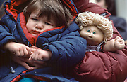Cabbage Patch Child at Parade, New York City, New York, USA, March 1984