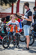 #29 (HUISMAN Ruby) NED during practice at Round 9 of the 2019 UCI BMX Supercross World Cup in Santiago del Estero, Argentina