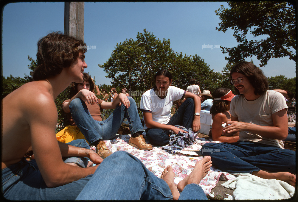 Playing Set Back before the doors open at Roosevelt Stadium on 4 August 1976 for that days Grateful Dead Concert.