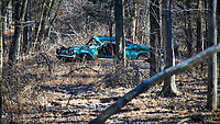 Abandoned car at the Sourland Mountain Preserve. Winter Nature in New Jersey. Image taken with a Nikon D3x camera and 80-400 mm VR lens.