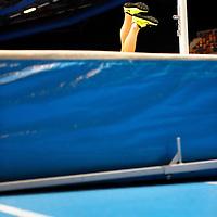 The Netherlands, Apeldoorn, 17-02-2013.<br /> Athletics, Dutch National Championships Indoor, Final High Jump women.<br /> Nadine Broersen fails on 1,87 metres and becomes second.<br /> Photo : Klaas Jan van der Weij