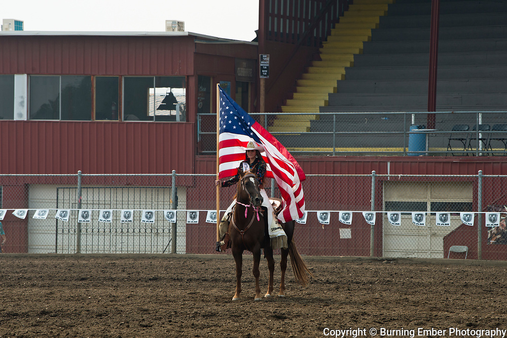 Alex Sheets taking a lap with the American Flag during the Ladies Breakaway event August 23rd, 2018 in Couer D'Alene ID.  Photo by Josh Homer/Burning Ember Photography.  Photo credit must be given on all uses.