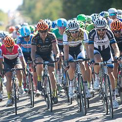 Stage 4 of the 2014 Tour of Alberta, Edmonton to Strathcona County. Tom Dumoulin kon zijn leiderstrui verdedigen