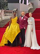 Tuesday 28 September 2021<br />Bond: No Time To Die - world film. premiere <br />The Royal Albert Hall<br /> Lashana Lynch ,Daniel Craig and Lea  Seydoux