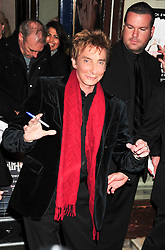 © under license to London News Pictures. 11/03/2011. Barry Manilow attends the press night of The Hurly Burly Show at the Garrick Theatre London . Photo credit should read Alan Roxborough/LNP