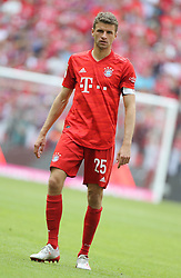 18.05.2019, Allianz Arena, Muenchen, GER, 1. FBL, FC Bayern Muenchen vs Eintracht Frankfurt, 34. Runde, Meisterfeier nach Spielende, im Bild Thomas Müller // during the celebration after winning the championship of German Bundesliga season 2018/2019. Allianz Arena in Munich, Germany on 2019/05/18. EXPA Pictures © 2019, PhotoCredit: EXPA/ SM<br /> <br /> *****ATTENTION - OUT of GER*****