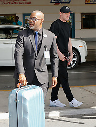 EXCLUSIVE: Wayne Rooney arrives back in Barbados from Washington where he's considering joining DC United. 25 May 2018 Pictured: Wayne Rooney. Photo credit: Queensofthenorth/MEGA TheMegaAgency.com +1 888 505 6342