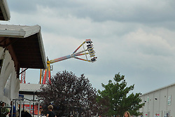 03 August 2017:  Thrill ride in the carnival area called the Freak Out at 2017 McLean County Fair<br /> <br /> #alphoto513