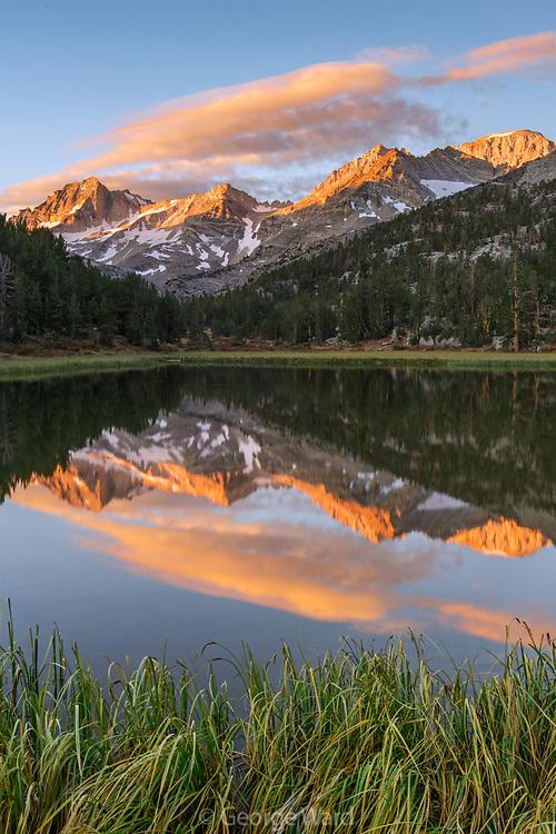 Sierra Nevada reflected in Mountain Lake, John Muir Wilderness, Inyo National Forest, California