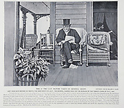 """Last Picture of General Grant 1885 from The American Civil War book and Grant album : """"art immortelles"""" : a portfolio of half-tone reproductions from rare and costly photographs designed to perpetuate the memory of General Ulysses S. Grant, depicting scenes and incidents in connection with the Civil War Published  in Boston and New York by W. H. Allen in 1894"""