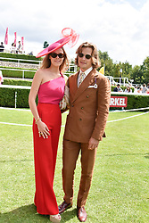 29 July 2021 - The QATAR Goodwood Festival Ladies Day at Goodwood Racecourse, West Sussex.<br /> Picture Shows - The Earl or March & Kinrara and Eleonore Decaux<br /> <br /> <br /> NON EXCLUSIVE - WORLD RIGHTS