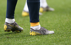 Nike boots belonging to Jurgen Locadia of Brighton and Hove Albion with the words fearless - Mandatory by-line: Arron Gent/JMP - 17/03/2019 - FOOTBALL - The Den - London, England - Millwall v Brighton and Hove Albion - Emirates FA Cup Quarter Final