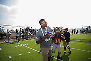 January 27 2016: Tampa Bay Buccaneers Jameis Winston during the Pro Bowl Draft at Wheeler Army Base on Oahu, HI. (Photo by Aric Becker/Icon Sportswire)