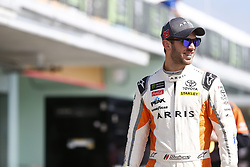 November 17, 2018 - Homestead, Florida, U.S. - Daniel Suarez (19) hangs out in the garage prior to second practice for the Ford 400 at Homestead-Miami Speedway in Homestead, Florida. (Credit Image: © Justin R. Noe Asp Inc/ASP)