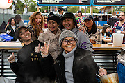 Queens, NY - October 2, 2016. Workers at Pata Paplean preparing Thai noodle soup at The Feastival of Queens at The Meadows Festival at Citi Field.