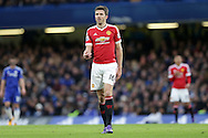 Michael Carrick of Manchester United looks on. Barclays Premier league match, Chelsea v Manchester Utd at Stamford Bridge in London on Sunday 7th February 2016.<br /> pic by John Patrick Fletcher, Andrew Orchard sports photography.