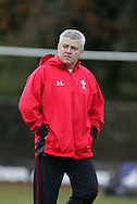The Wales rugby team press conference and team training on 18/11/2008 ahead of their autumn international against New Zealand.  Wales head coach Warren Gatlland. pic by Andrew Orchard ©  Andrew Orchard sports photography