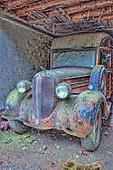 This 30's era Dodge woody has not moved from this spot in years.