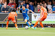 AFC Wimbledon defender Barry Fuller (2) dribbling during the EFL Sky Bet League 1 match between AFC Wimbledon and Shrewsbury Town at the Cherry Red Records Stadium, Kingston, England on 12 August 2017. Photo by Matthew Redman.