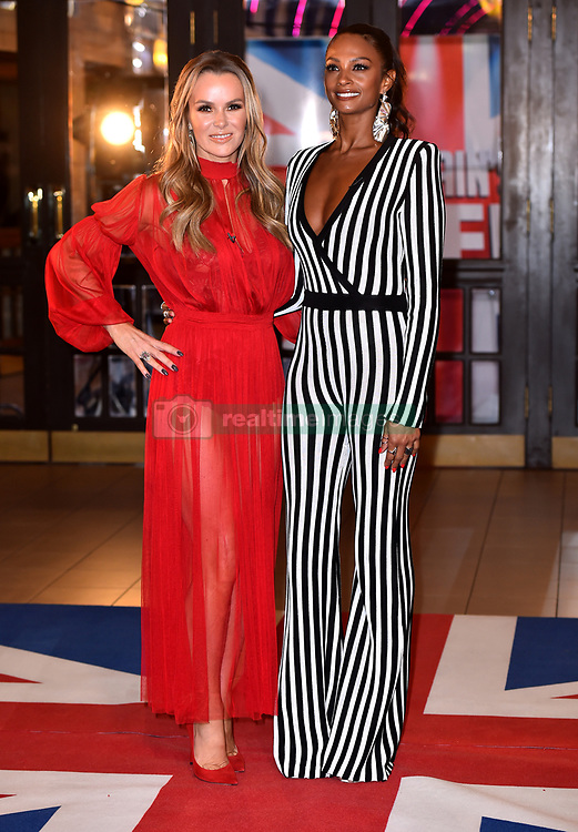 Judges Amanda Holden (left) and Alesha Dixon attending the Britain's Got Talent auditions at the Blackpool Opera House