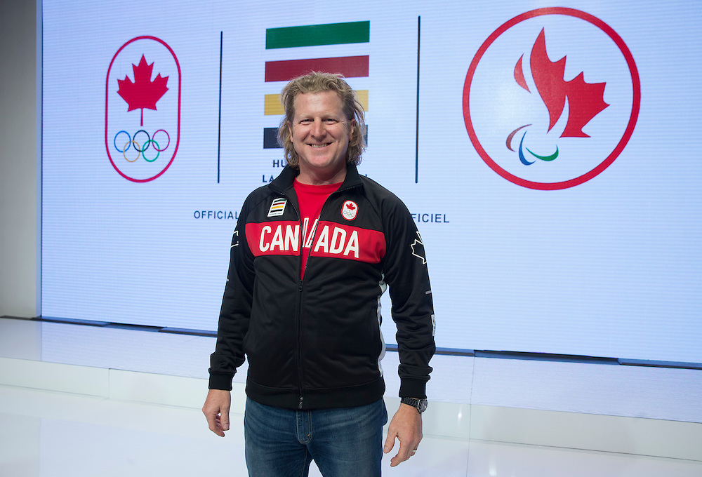 during the Canadian Olympic Committee Rio Uniform Launch in Toronto, April 12, 2016.