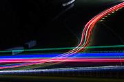 October 1, 2016: IMSA Petit Le Mans, Long exposure of racing action at Petit Le Mans