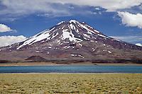 VOLCAN MAIPO, RESERVA NATURAL LAGUNA DEL DIAMANTE, PROVINCIA DE MENDOZA, ARGENTINA