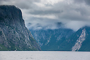 Western Brook pond in the Unesco world heritage sight, Gros Mourne National Park, Newfoundland, Canada