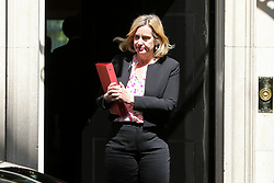 © Licensed to London News Pictures. 14/05/2019. London, UK. Amber Rudd - Secretary of State for Work and Pensions departs from No 10 Downing Street after attending the weekly Cabinet meeting. Photo credit: Dinendra Haria/LNP