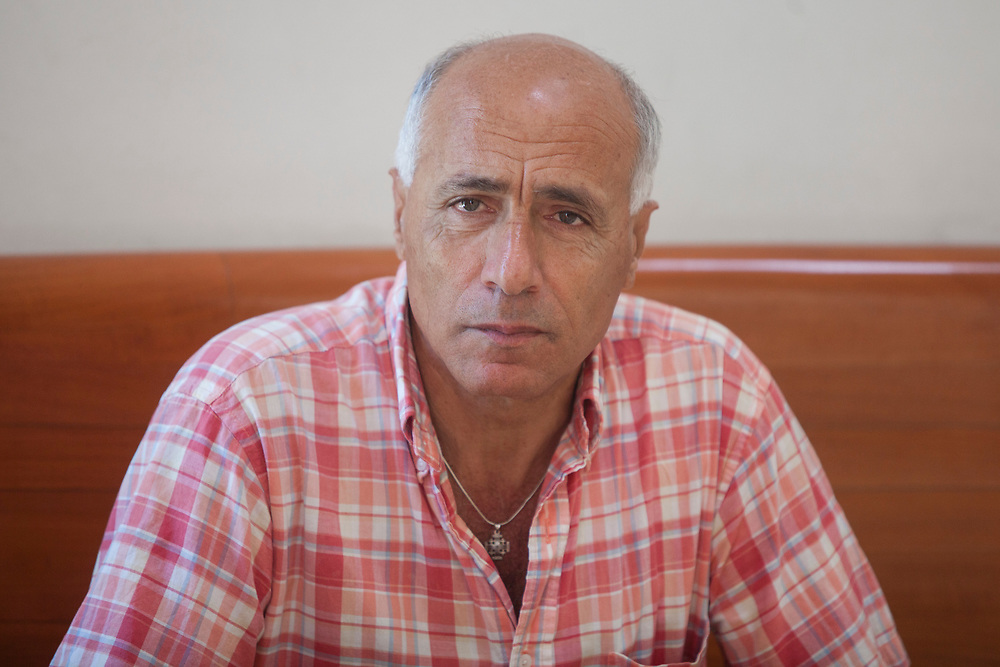 Israeli nuclear whistleblower Mordechai Vanunu is seen at the Supreme Court in Jerusalem, Israel, on June 6, 2012, prior to a discussion in his petition to renounce his Israeli citizenship. The High Court of Justice has denied the petition filed by Vanunu, a former technician at the atomic reactor in Dimona who was jailed in 1986 for describing Israel's nuclear capabilities to Britain's Sunday Times newspaper.