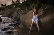 Model Susanne M. Rivera at Punta Tuna Beach in Maunabo, Puerto Rico. (2016)