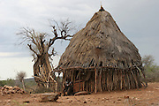 Africa, Ethiopia, Omo River Valley Hamer Tribe hut