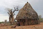 Africa, Ethiopia, Omo River Valley Hamer Tribe hut