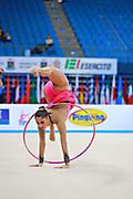Giorgi Camilla during qualifying at hoop in Pesaro World Cup 10 April 2015. Camilla is a Argentine rhythmic gymnastics athlete born on January 2, 1995 in Córdoba, Argentine.