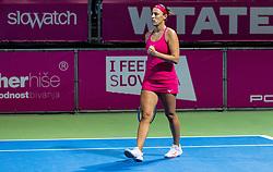 PORTOROZ, SLOVENIA - SEPTEMBER 18:  Andreja Klepac of Slovenia playing doubles semifinal  during the WTA 250 Zavarovalnica Sava Portoroz at SRC Marina, on September 18, 2021 in Portoroz / Portorose, Slovenia. Photo by Vid Ponikvar / Sportida