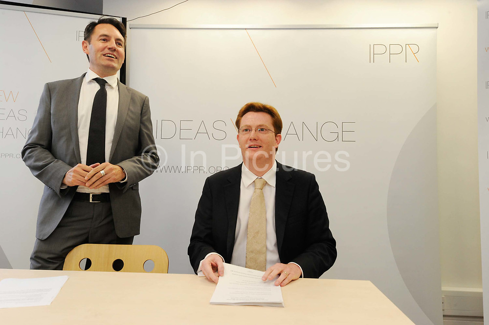 Britain's Treasury Minister Danny Alexander at the Institute for Public Policy Research (IPPR) in London. Public sector workers will not stop the British government from reforming their pensions by going on strike, Alexander said, in a speech likely to further inflame union anger.